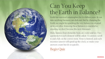Can you keep the Earth in balance