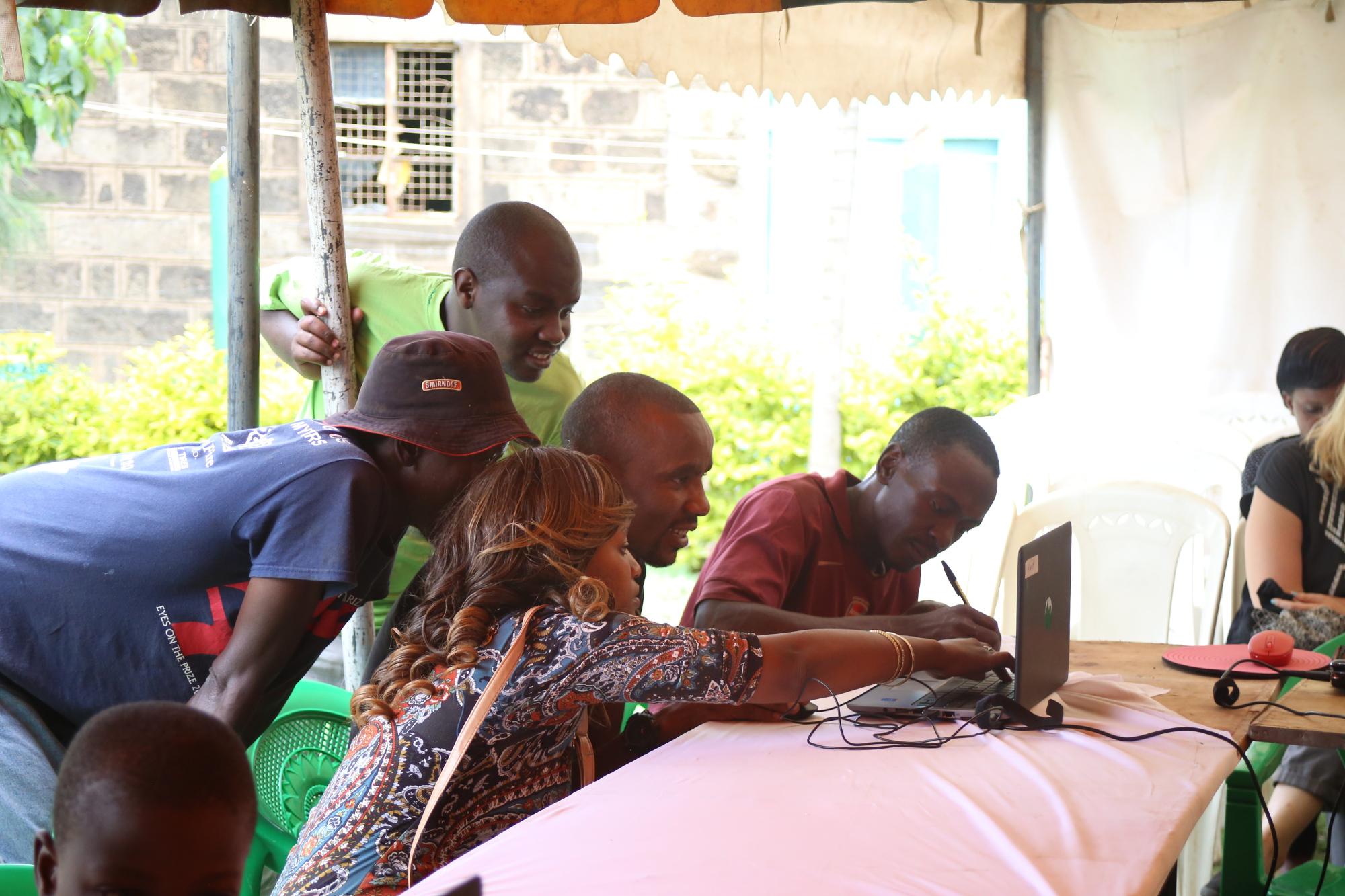 Minecraft workshop in Dandora, Nairobi