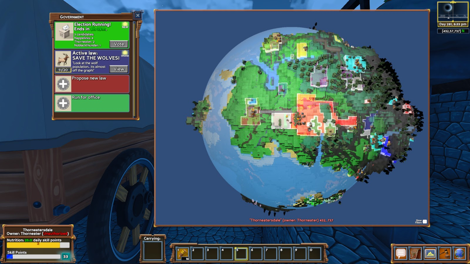 """Map of your own """"Eco-world""""."""