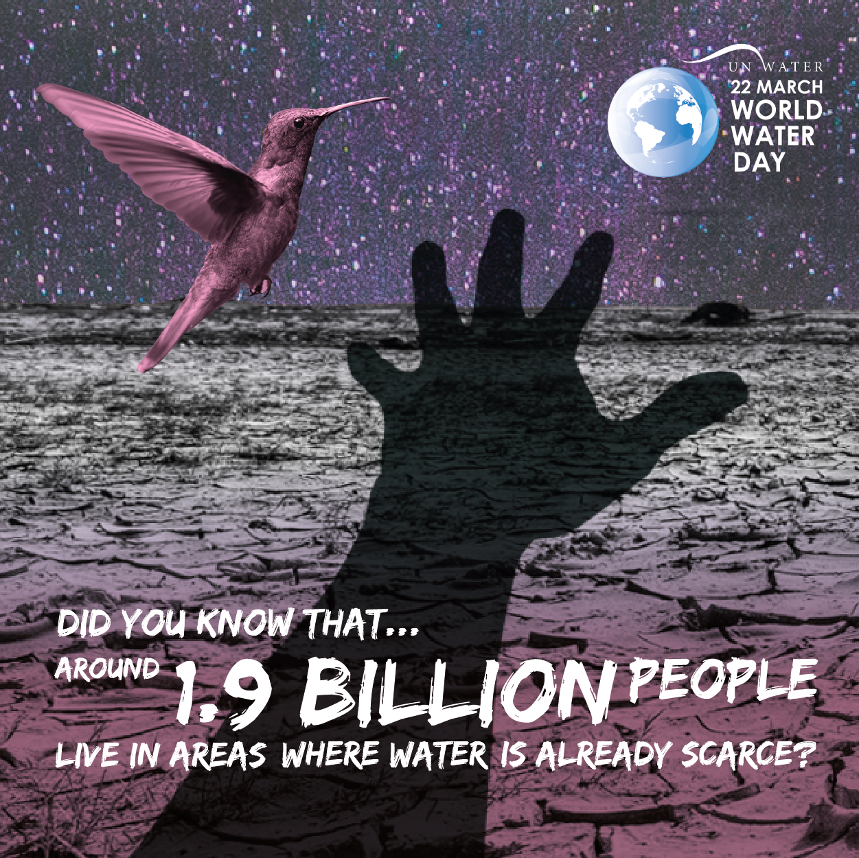 Did you know that around 1.9 billion people live in areas where water is already scarce?