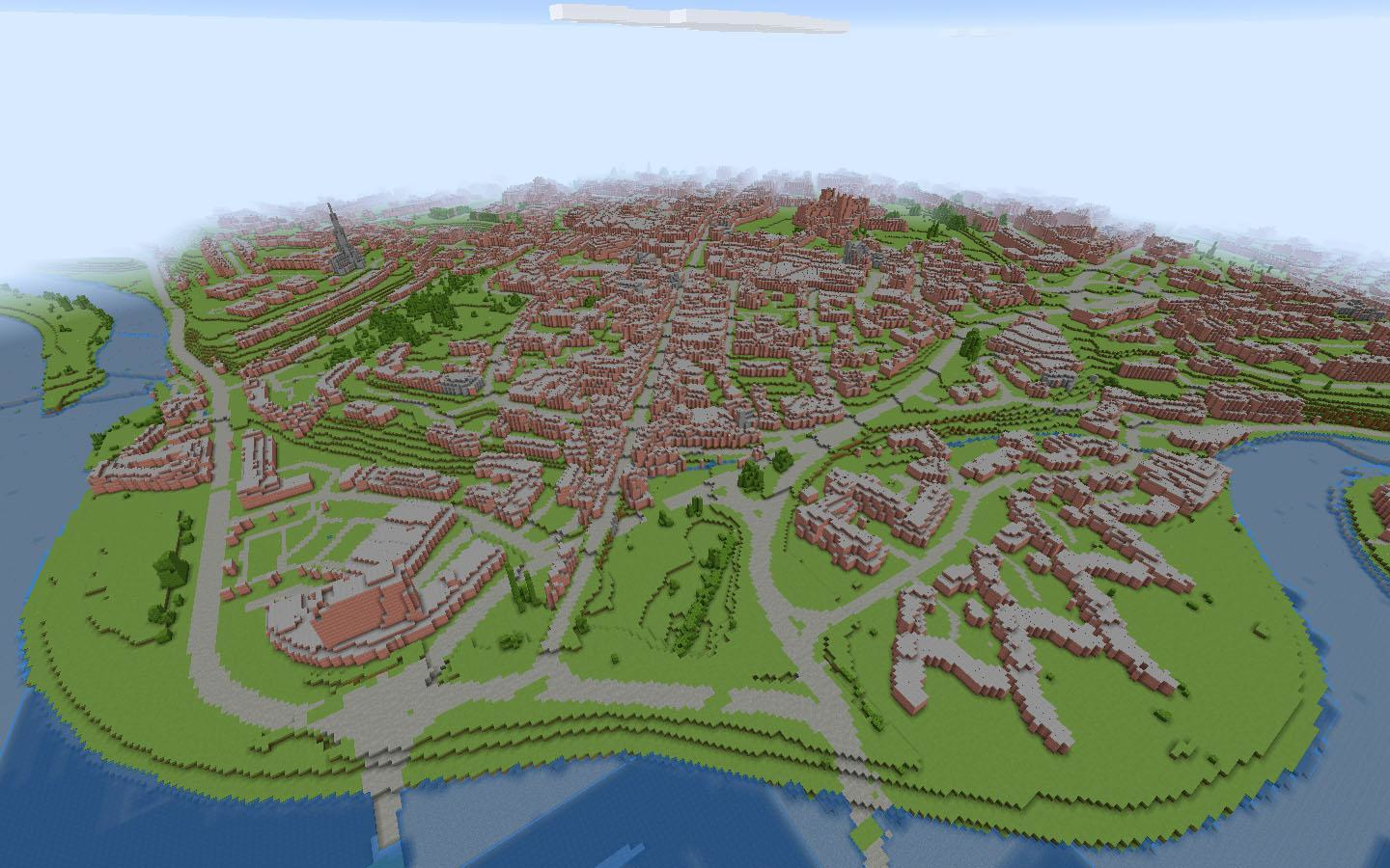 Exeter CityIt features a series of challenge areas to inspire creative thinking about the problems the city faces and offers the Minecraft map for people to test out solutions on.